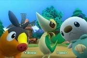 Tepig, Snivy, and Oshawott