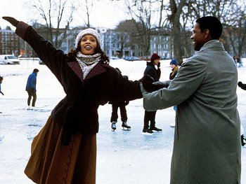 Whitney starred in The Preacher's Wife alongside Denzel Washington