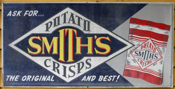 Smith's created the first grease-proof potato chip bag in the 1920's