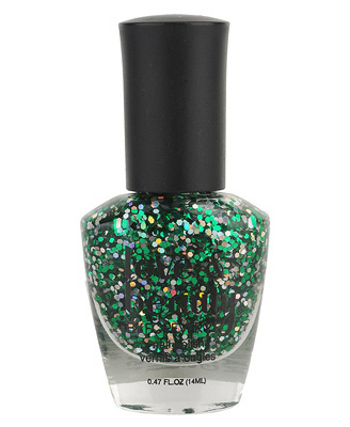 Shamrock glam nail polish, $3.80 at Forever 21