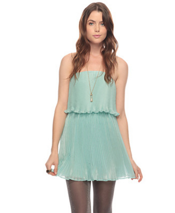 Flirty mint-colored spring dress, $29.90 at Forever 21