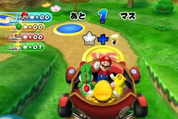 Mario Party 9 traveling on the board screenshot