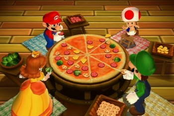 Mario Party 9 pizza mini-game screenshot