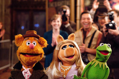Fozzie Bear, Miss Piggy and Kermit