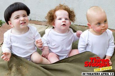 The Three Stooges as babies