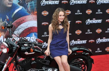Kelli at the premiere of The Avengers