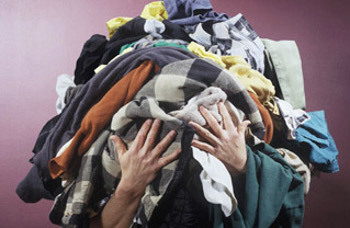 Organize a clothing drive and get everyone involved in clearing out their closets~