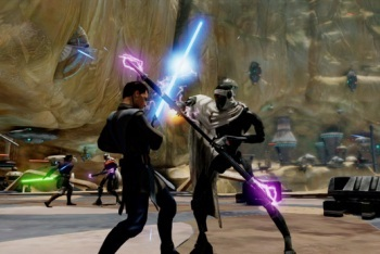 Kinect Star Wars screenshot lightsaber duel