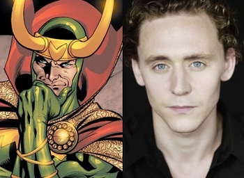 Tom as Loki and himself