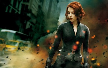 Scarlett as Black Widow