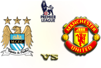 Manchester City and United Logos