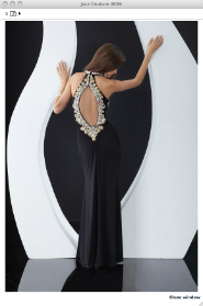 Backless floor length gown