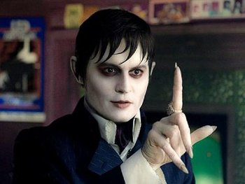Johnny Depp as Barnabas with his scary nails!