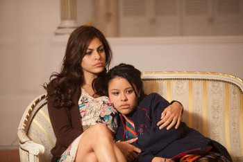 Eva Mendes as Gloria and Cierra Ramirez as Ansiedad
