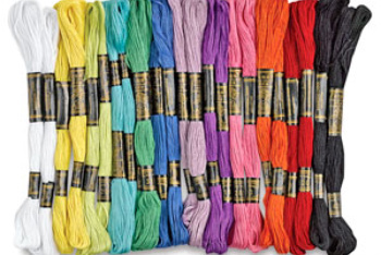 Embroidery Thread Comes in All Different Colors