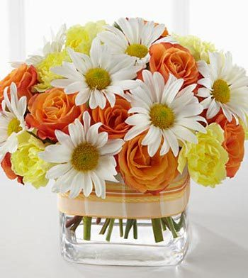 A beautiful bouquet of your Mom's fave flowers will be sure to get a smile