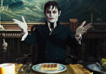 Barnabas at a family dinner