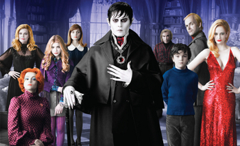 Barnabas with the Collins family... and