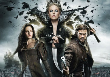 Snow, her Huntsman and the evil Queen