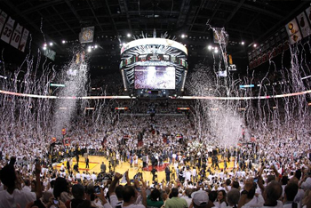 Confetti at the NBA Final