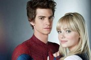 Andrew Garfield as Spidey with Emma as Gwen