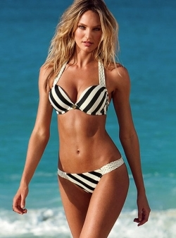 This push-up bikini adds two cup sizes. Perfect for a small bust.