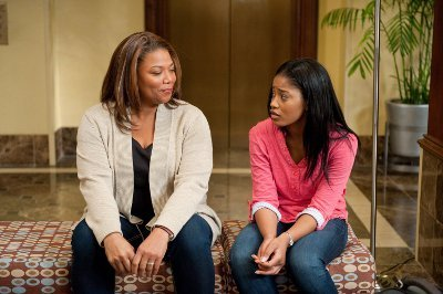 "Keke with Queen Latifah in ""Joyful Noise"""