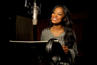 Keke recording the voice of Peaches