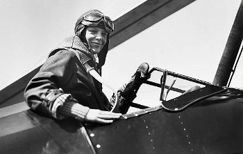 Amelia Earhart was the first woman (and second person) to cross the Atlantic