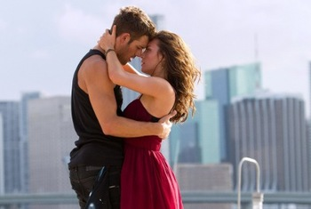 Sean (Ryan Guzman and Emily (Kathryn) Get their flirt on