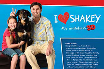 I Heart Shakey is all about a girl, her dad and their beloved dog Shakey!
