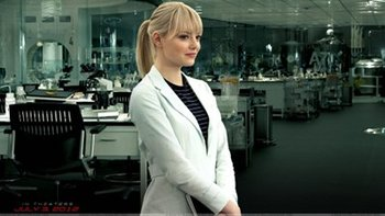 Gwen in the lab