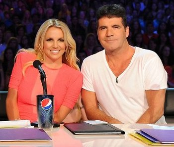 Britney with Simon