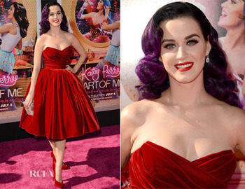 A gorgeous Katy at the film's premiere