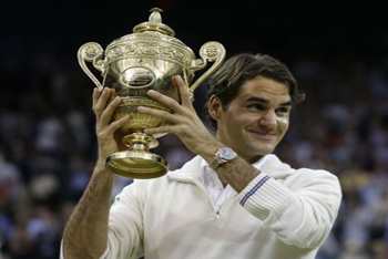 Roger Wins Wimbleton