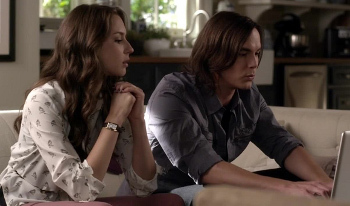 Caleb helps Spencer break into Maya's website