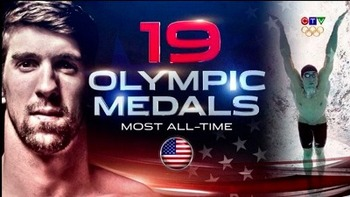 Michael Phelps 19 medals