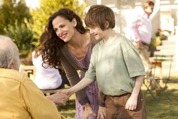 "CJ as Timothy with ""mom"" Jennifer Garner"