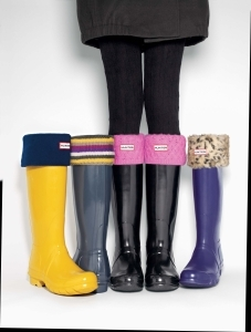 Hunter Boots and rollover socks
