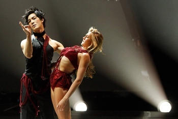 Lindsay and Cole Performing The Addiction Routine