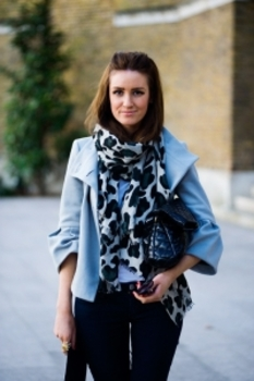 A scarf is a low-commitment bold statement accessory