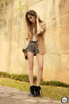 Sometimes bold comes in mini, like these cheetah print shorts