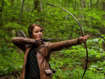 Katniss takes aim
