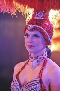 Michelle (Sutton) as a Vegas showgirl