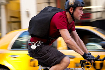 The life of a bike messenger is a physically-demanding and dangerous one.