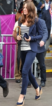 Kate Middleton at the London Olympics wearing skinny jeans