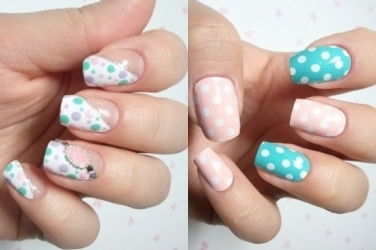 Dotted nails are cute and playful!