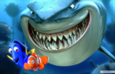 Bruce the shark after Dory and Marlin