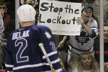 Maple Leafs not happy on strike