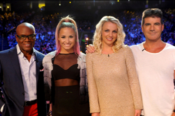 Season 2 judges L.A. Reid, Demi Lovato, Britney Spears and Simon Cowell